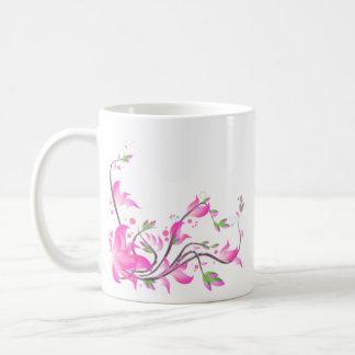 garde décorative de belles fleurs roses - fleurs mug