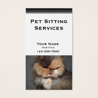 Garde d'enfants d'animal familier - chat persan cartes de visite