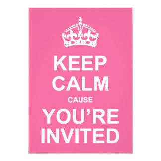 Gardez la cause calme que vous êtes le bonbon carton d'invitation  12,7 cm x 17,78 cm
