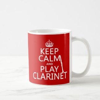 Gardez la clarinette de calme et de jeu (toute mug blanc