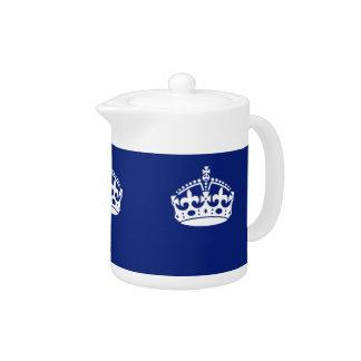 Gardez la couronne calme sur la couleur de bleu