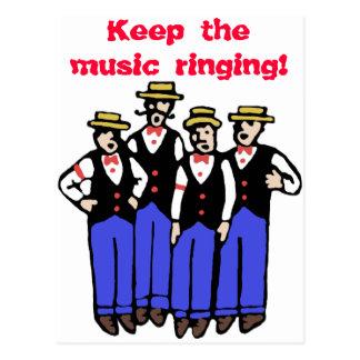 Gardez la sonnerie de musique ! carte postale