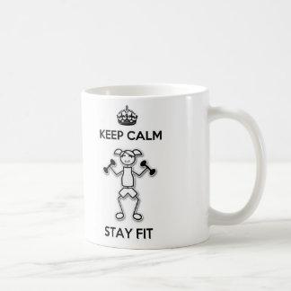 Gardez la tasse convenable de séjour calme