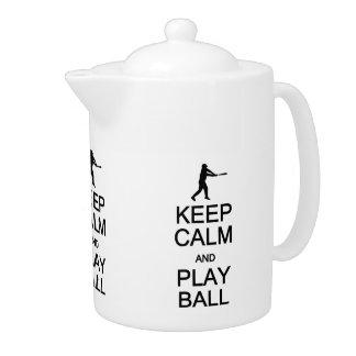 Gardez la théière de coutume de boule de calme et