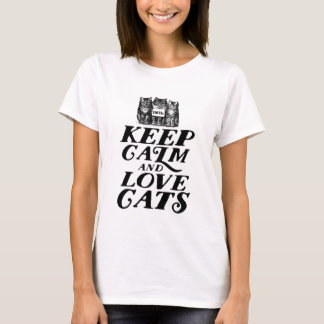Gardez le calme et aimez le T-shirt d'amoureux des