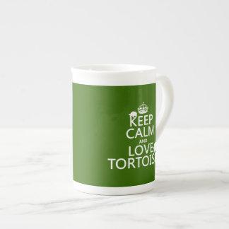 Gardez le calme et aimez les tortues (toute mug