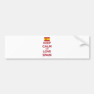 Gardez le calme et aimez l'Espagne Autocollant De Voiture
