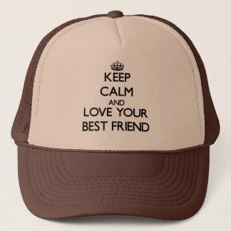 Gardez le calme et aimez votre meilleur ami casquette