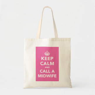 Gardez le calme et appelez une sage-femme sac en toile budget