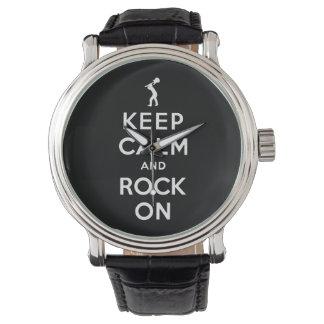 Gardez le calme et basculez dessus montres