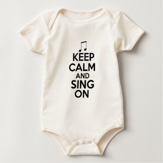 Gardez le calme et chantez dessus body