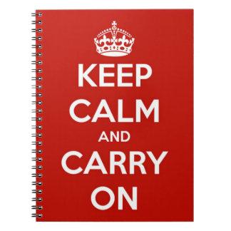 Gardez le calme et continuez le carnet de notes à