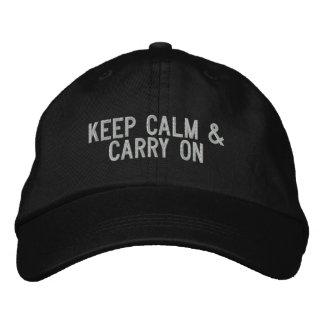 Gardez le calme et continuez le casquette