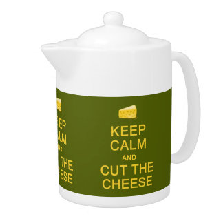 Gardez le calme et coupez la théière de coutume de