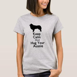 Gardez le calme et étreignez votre Australien T-shirt