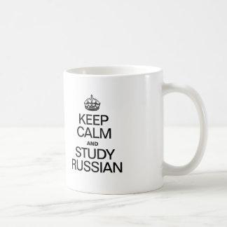 GARDEZ LE CALME ET ÉTUDIEZ LE RUSSE MUG