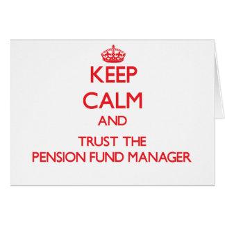 Gardez le calme et faites confiance au directeur d carte de vœux