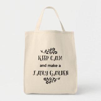 Gardez le calme et faites un jardin féerique, sac