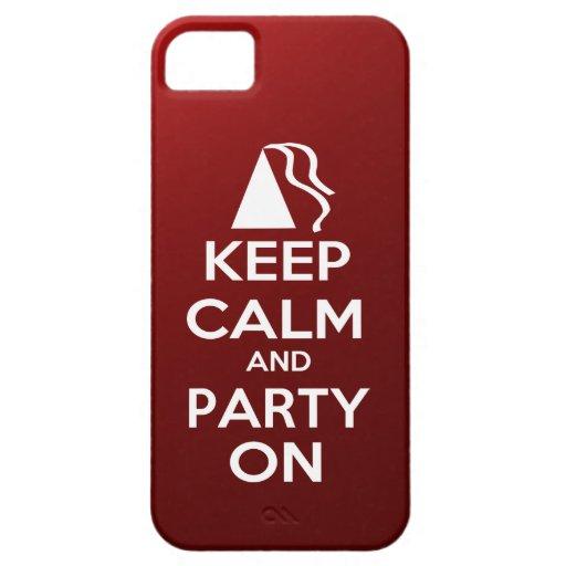 Gardez le calme et la partie dessus coque iPhone 5