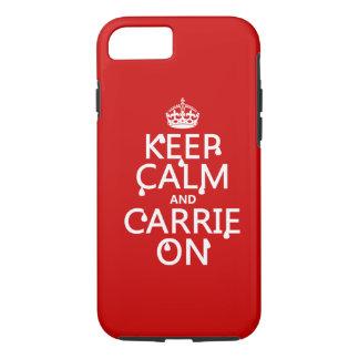 Gardez le calme et le Carrie dessus - sang - Coque iPhone 7