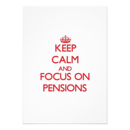 Gardez le calme et le foyer sur des pensions invitation