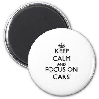 Gardez le calme et le foyer sur des voitures