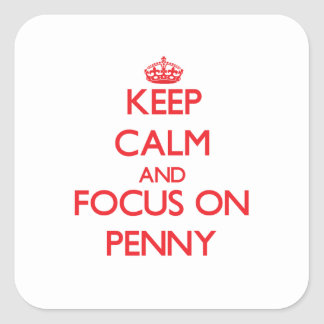 Gardez le calme et le foyer sur le penny