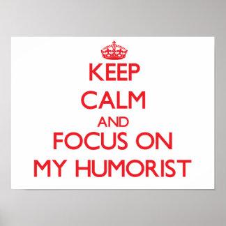 Gardez le calme et le foyer sur mon humoriste