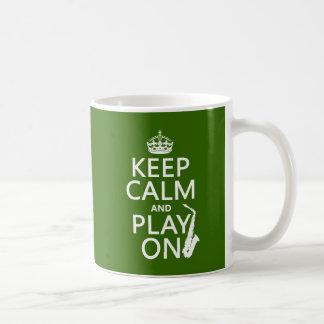 Gardez le calme et le jeu sur (saxophone) (toute mug