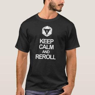 Gardez le calme et l'écrouissez t-shirt