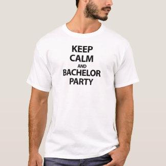 Gardez le calme et l'enterrement de vie de jeune t-shirt