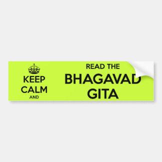 Gardez le calme et lisez le Bhagavad Gita Autocollant De Voiture