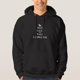Gardez le calme et marchez un sweatshirt d'hommes