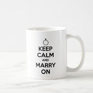 Gardez le calme et mariez dessus - mariage et mug blanc