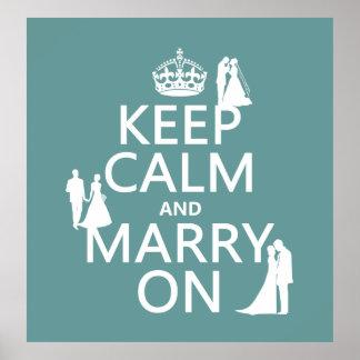Gardez le calme et mariez sur (tout arrière - plan