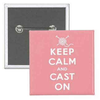 Gardez le calme et moulez sur l'insigne de Pin Badge Carré 5 Cm