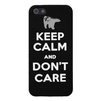 gardez le calme et ne vous inquiétez pas le cas de coques iPhone 5