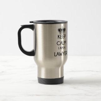 Gardez le calme, je suis un avocat mug de voyage