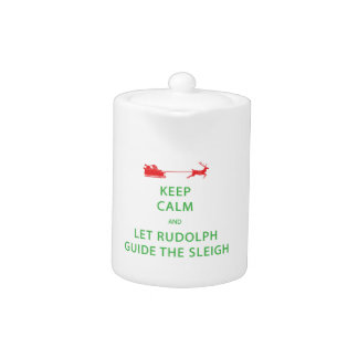 Gardez le calme laissez le guide Sleigh de Rudolph