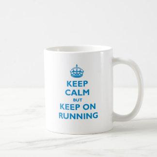 Gardez le calme mais continuez au fonctionnement mug