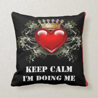 Gardez le calme que je me fais des coussins oreiller