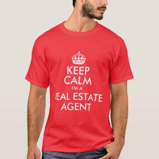 Gardez le calme que je suis un vrai agent t-shirt