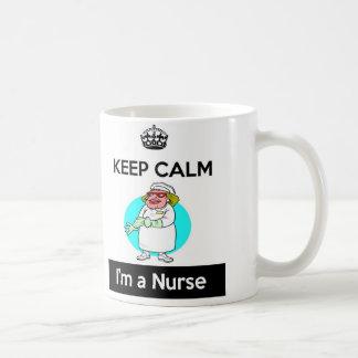 Gardez le calme que je suis une tasse d'infirmière