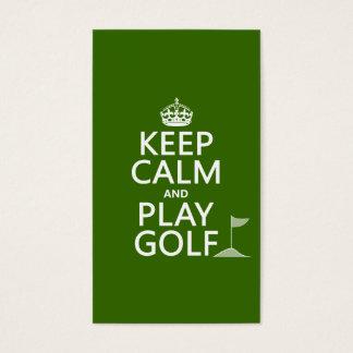 Gardez le golf de calme et de jeu - toutes les cartes de visite