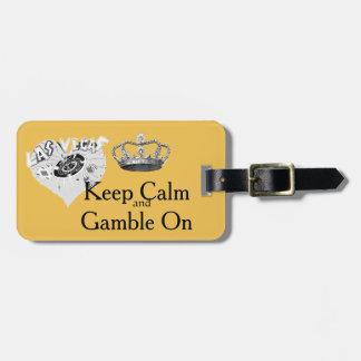Gardez le jeu calme Las Vegas Étiquettes Bagages