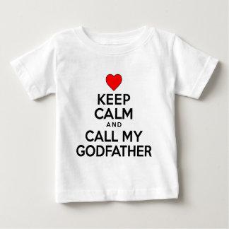 Gardez le parrain calme d'appel t-shirt pour bébé