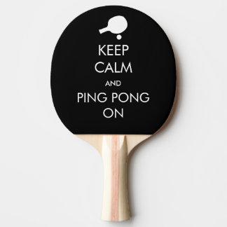 Gardez le ping-pong calme dessus raquette tennis de table