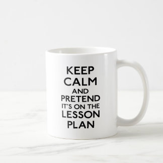 Gardez le plan de cours calme mug blanc