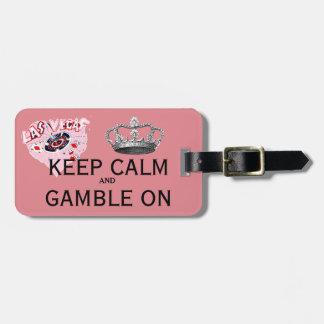 Gardez le rose calme de Las Vegas Étiquettes Bagages