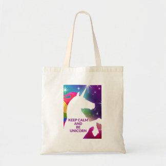 Gardez le sac fourre-tout à calme et à licorne